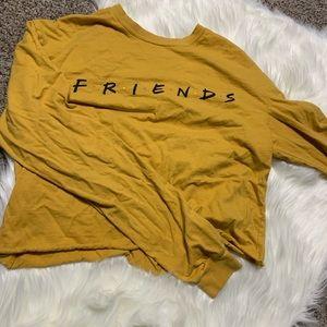 Yellow long sleeve friends tv show logo shirt